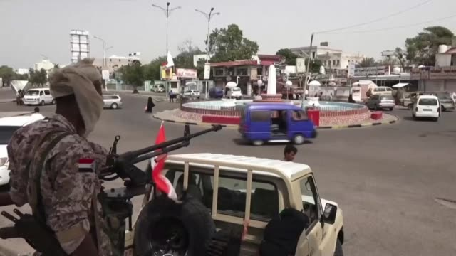 fighters of the uae trained security belt force dominated by backers of the the southern transitional council which seeks independence for south... - yemen stock videos & royalty-free footage