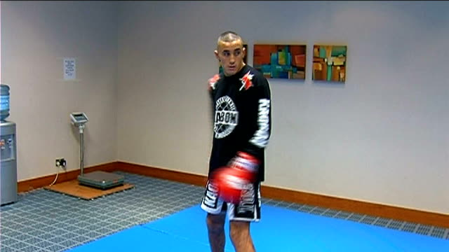 ufc fighters shadowboxing for camera england london dominion theatre int joe stevenson shadowboxing for camera terry etim training nathan marquadt... - joe stevenson stock videos and b-roll footage