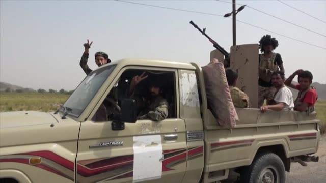 fighters supporting the separatists southern transitional council drive armed vehicles after claiming they have taken control of a part of the... - separatism stock videos & royalty-free footage
