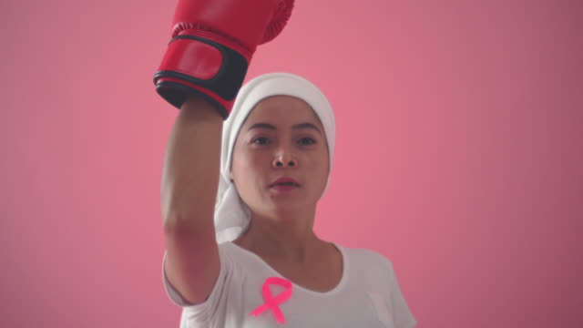 fighting breast cancer - completely bald stock videos & royalty-free footage