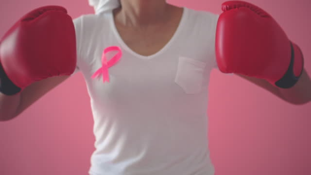 fighting breast cancer - breast cancer stock videos & royalty-free footage