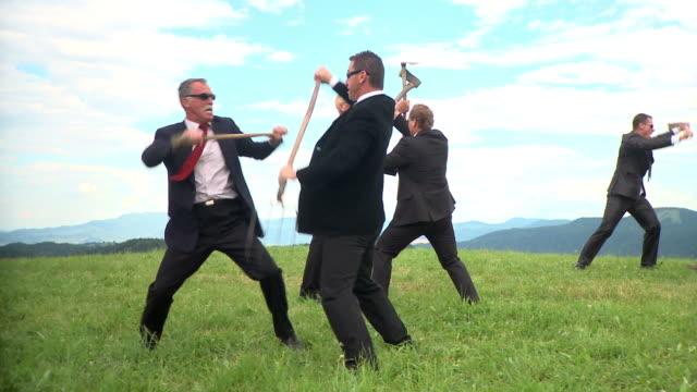 HD DOLLY: Fighting Businessmen