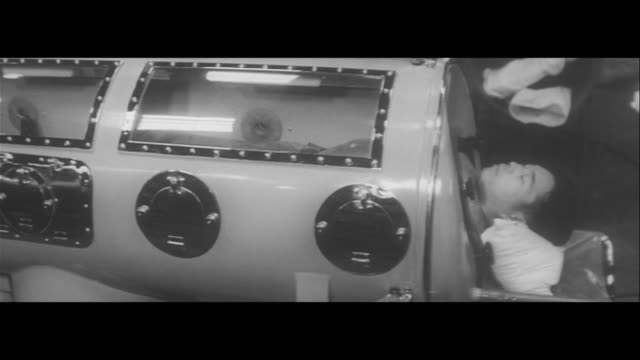 fighting childhood polio/health ministry workers sanitizing the street new made in japan iron lung children receiving the vaccine at a clinic testing... - respiratory system stock videos & royalty-free footage