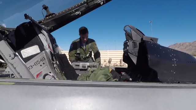 fighting falcon's during the second week of red flag ellis afb nevada - captain scarlet stock videos and b-roll footage
