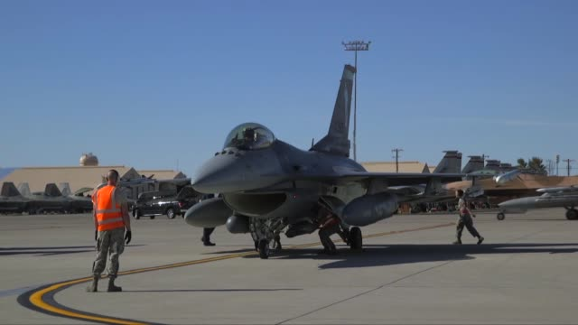 fighting falcon's during the second week of red flag ellis afb nevada - week stock videos and b-roll footage