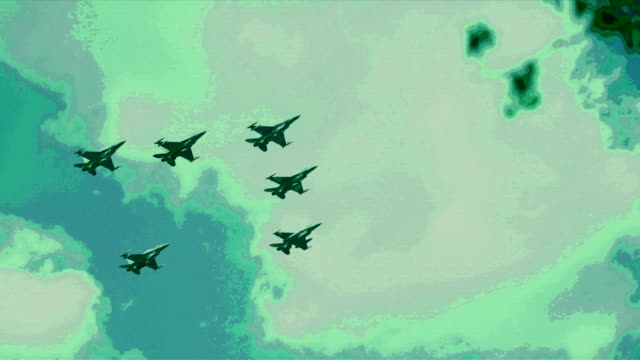 f16 fighting falcons flying in formation - military helicopter stock videos & royalty-free footage