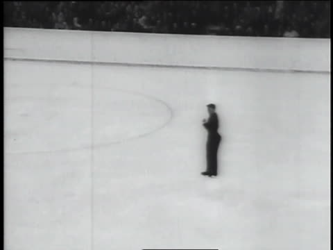 a figure skater falls twice during a performance at the winter olympics in austria. - figure skating stock videos & royalty-free footage