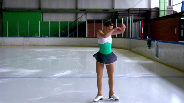 hd: figure skating performance - pirouette stock videos and b-roll footage