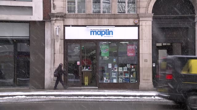 gdp figures show slowest economic growth for 6 years r280218007 / 2822018 london holborn ext branch of maplin electrical and electronics store as... - years stock videos and b-roll footage