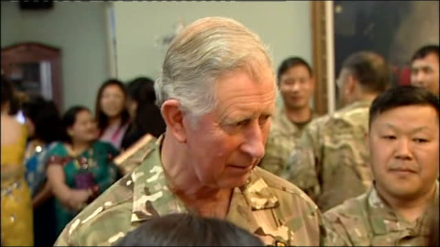 fijian born soldier fighting to stay in uk hands medals back to prince charles; date unknown location unknown: prince charles, prince of wales, in... - uniform stock videos & royalty-free footage