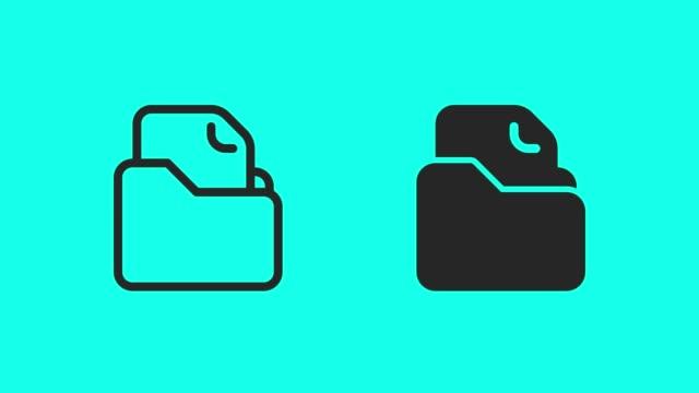 File Folder Icons - Vector Animate