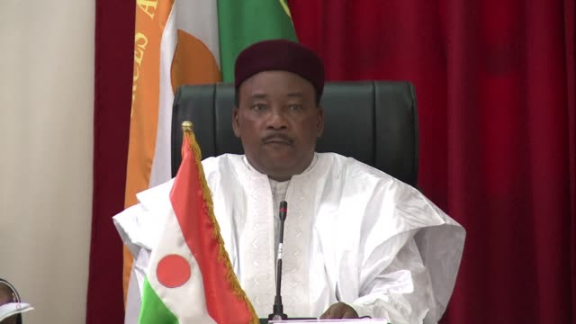 file footage of mahamadou issoufou president of niger - mahamadou issoufou stock videos and b-roll footage