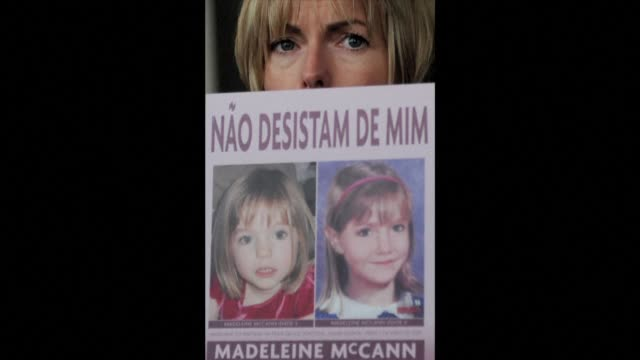 file images of madeleine mccann's news coverage as the parents of missing british girl madeleine mccann welcome a new appeal for information about a... - disappearance of madeleine mccann stock videos & royalty-free footage