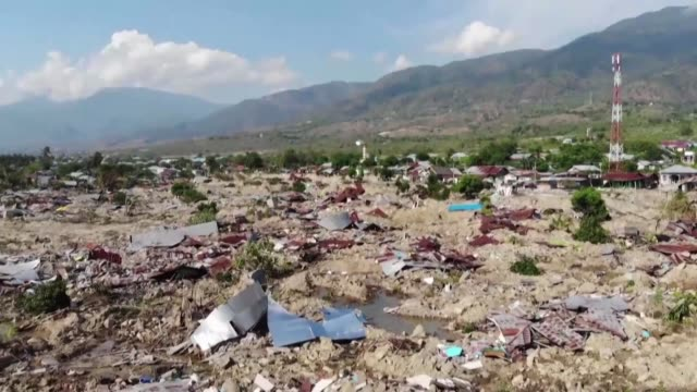 file images of the devastating quake tsunami that pounded indonesia's city of palu in 2018 - indonesia stock videos & royalty-free footage