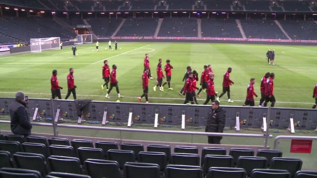 file images of the portugal national football team which will compete in the 2014 world cup in brazil clean : file portuguese national football team... - national team stock videos & royalty-free footage