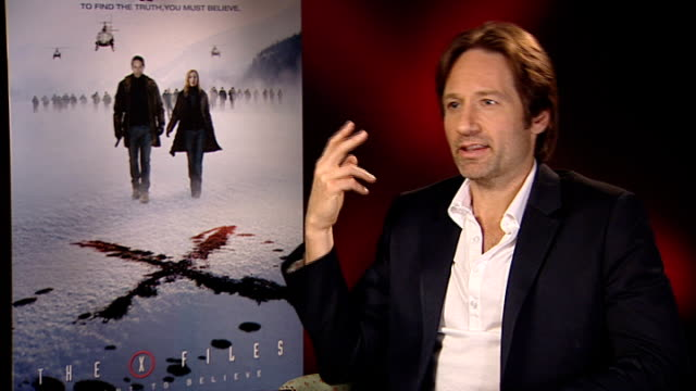 'X Files I Want to Believe' film David Duchovny interview David Duchovny interview SOT Believe in metaphysical never somebody who'd seek out these...