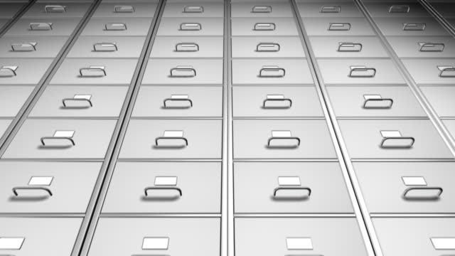 filing cabinet 01 infinite white loop - drawer stock videos & royalty-free footage