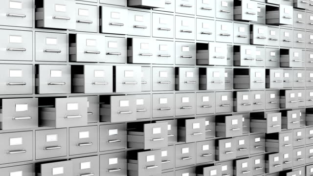 filing cabinets wall - drawer stock videos & royalty-free footage