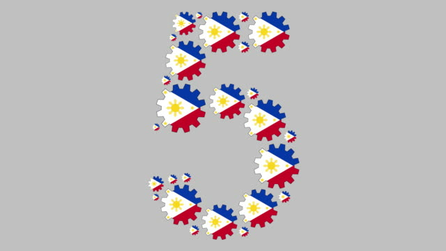 filipino number five - number 5 stock videos & royalty-free footage