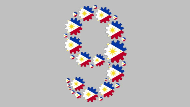 stockvideo's en b-roll-footage met filipijnse nummer negen - getal 9