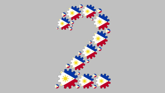 filipino number two - philippines flag stock videos & royalty-free footage
