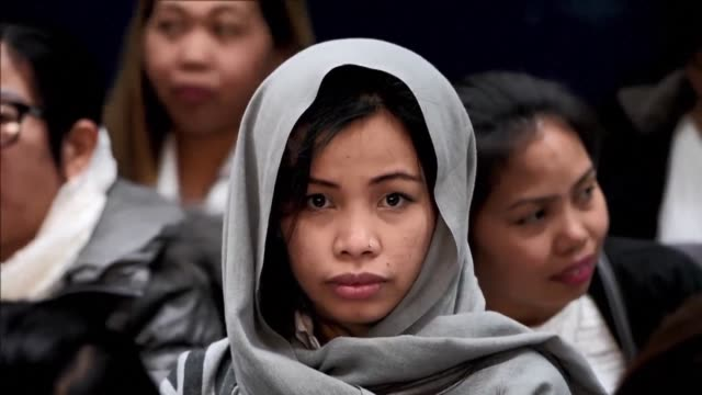 Filipinos working in Kuwait return to Manila where they are greeted by President Rodrigo Duterte after he angrily lashed out at the Gulf Country over...
