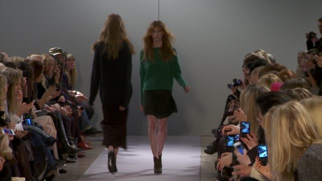 vidéos et rushes de stockholm fashion week a/w 2012 on january 30 2012 in stockholm sweden - semaine de la mode