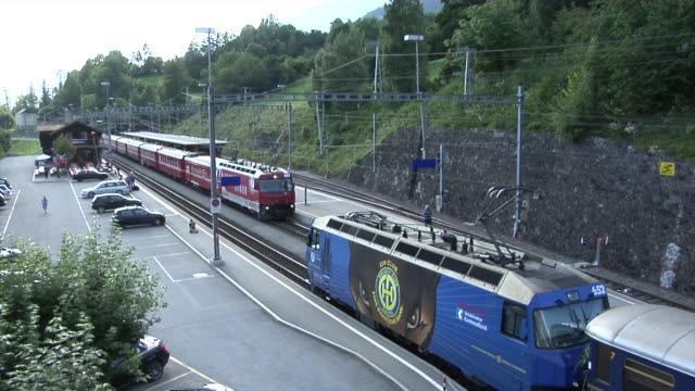 filisur railway junction - railway junction stock videos & royalty-free footage