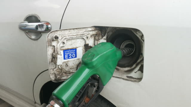 filled fuel into car - petrol tank stock videos and b-roll footage