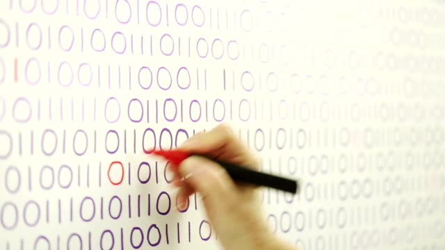 Filling in missing binary code data