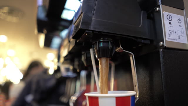 filling soft drink from machine - syrup stock videos & royalty-free footage
