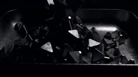 stockvideo's en b-roll-footage met het vullen van de lade сast ijzerpiramide leeg - group of objects