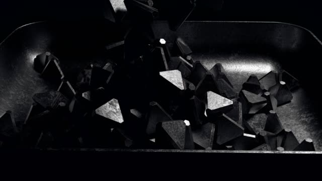 filling the tray сast iron pyramid blank - cube shape stock videos & royalty-free footage