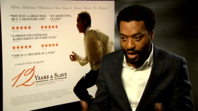 '12 Years a Slave' interviews Chiwetel Ejiofor interview SOT