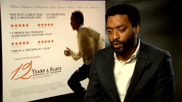 '12 Years a Slave' interviews Ejiofor interview SOT