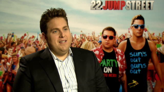 '22 Jump Street' Jonah Hill interview ENGLAND London INT Jonah Hill interview SOT