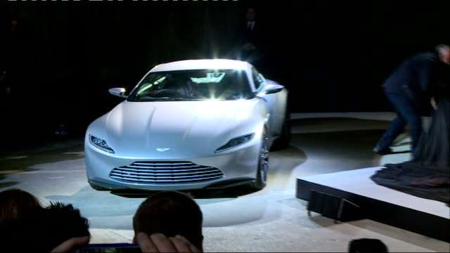 24th James Bond film to be called 'Spectre' Cast unveiled Mendes press conference SOT Reveals Aston Martin DB10 car / reveals and introduces onto...