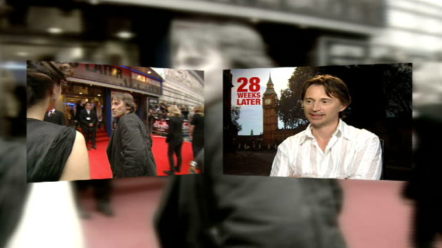 weeks later': robert carlyle interview; graphic - itn - unsourced - sources inseparable carlyle at premiere / carlyle interview sot - robert carlyle stock videos & royalty-free footage