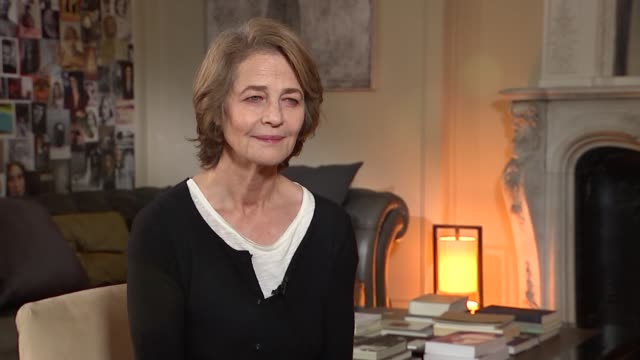 '45 years' charlotte rampling interview france int charlotte rampling interview sot on how naturalistic it seems / on working with tom courtenay / on... - tom courtenay stock videos & royalty-free footage