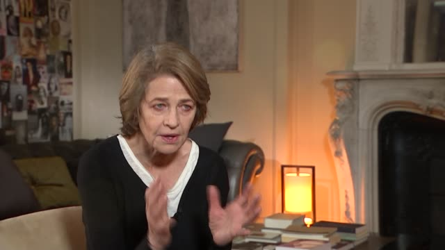 charlotte rampling interview; france: paris: int charlotte rampling interview sot - re possibility of receiving oscar for her role in '45 years' - charlotte rampling stock videos & royalty-free footage