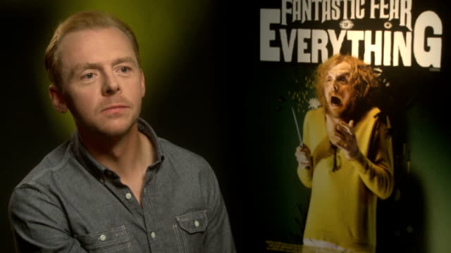 'a fantastic fear of everything' simon pegg crispian mills and chris hopewell interviews england london int simon pegg interview sot his shoes /... - simon pegg stock videos & royalty-free footage