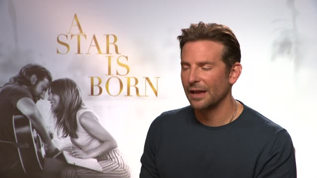 vidéos et rushes de a star is born bradley cooper interview england london int bradley cooper interview sot on not having to pretend to love the film on never being a... - vip