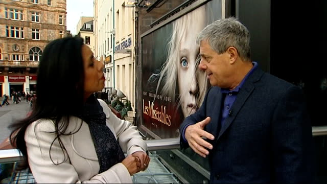 academy awards 2013 nominations announced london ext sir cameron mackintosh interview sot - cameron mackintosh stock videos & royalty-free footage