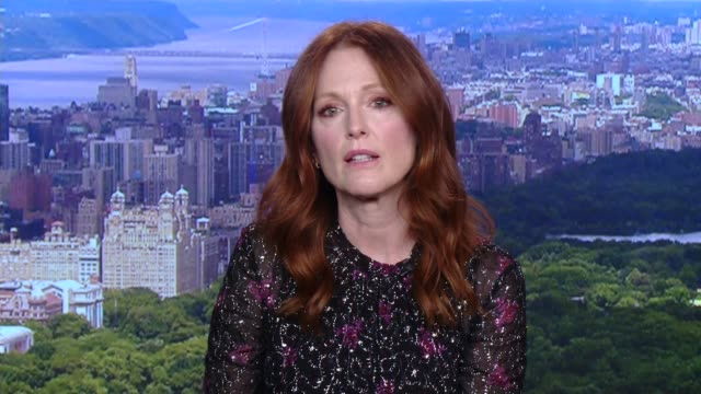'after the wedding' julianne moore interview england london gir int julianne moore interview via the internet sot - jackie long stock videos & royalty-free footage
