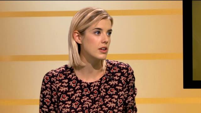 Agyness Deyn stars in new film 'Pusher' ENGLAND London GIR INT Agyness Deyn STUDIO interview SOT