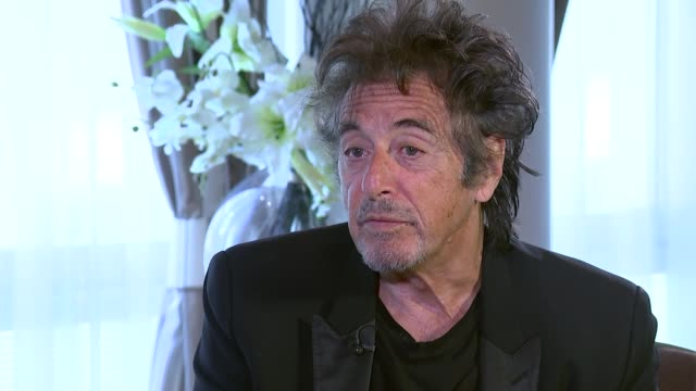 al pacino interview england london int al pacino interview sot on the story behind 'danny collins' / whether he has career regrets / the mistakes you... - al pacino stock videos & royalty-free footage