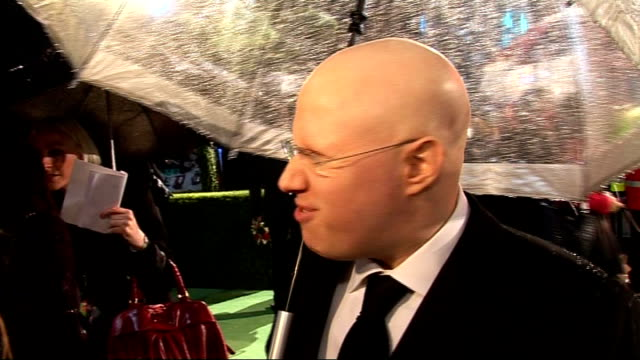 alice in wonderland london premiere red carpet arrivals matt lucas talking to press and interview sot - matt lucas comedian stock videos and b-roll footage
