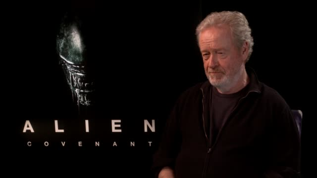 'alien covenant': junket interviews; ridley scott interview sot - リドリー・スコット点の映像素材/bロール