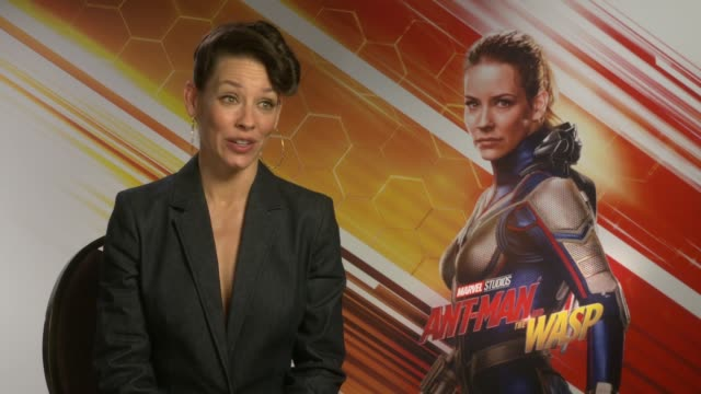AntMan and the Wasp junket interviews ENGLAND INT Evangeline Lilly interview SOT
