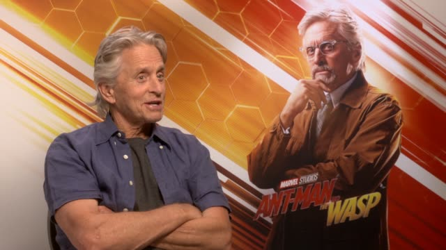 AntMan and the Wasp junket interviews ENGLAND INT Michael Douglas interview SOT